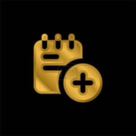 Illustration pour Ajoutez une icône métallique plaqué or ou un vecteur de logo - image libre de droit