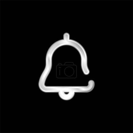 Photo pour Icône métallique argentée d'alarme - image libre de droit