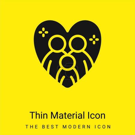 Illustration pour Adoption minimale icône matérielle jaune vif - image libre de droit