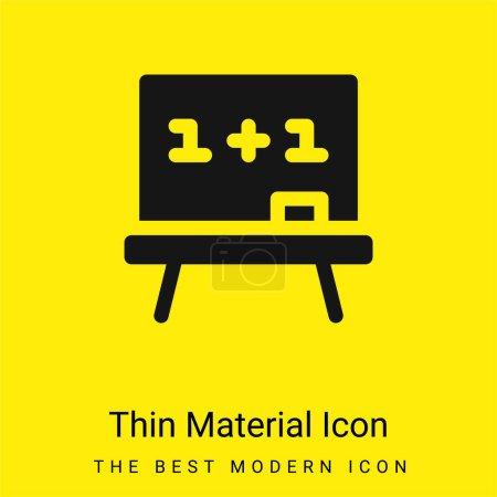 Illustration pour Panneau minimal jaune vif icône matérielle - image libre de droit