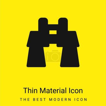 Binoculars minimal bright yellow material icon
