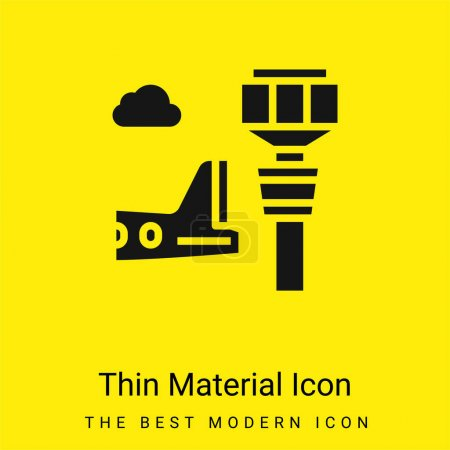 Airport Tower minimal bright yellow material icon