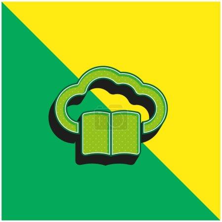 Illustration pour Livre sur Internet Cloud Vert et jaune moderne icône vectorielle 3d logo - image libre de droit