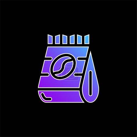 Illustration pour Icône vectorielle dégradé bleu haricots - image libre de droit