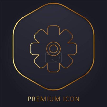 Illustration pour Big Cogwheel ligne d'or logo premium ou icône - image libre de droit