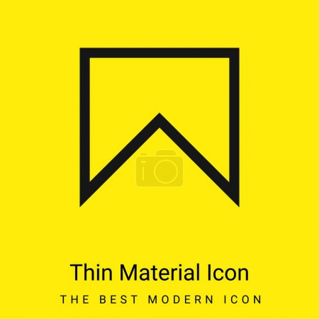Bookmark Outline minimal bright yellow material icon