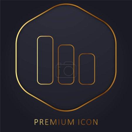 Bars Symbol golden line premium logo or icon