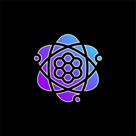 Illustration pour Icône vectorielle de dégradé bleu atome - image libre de droit