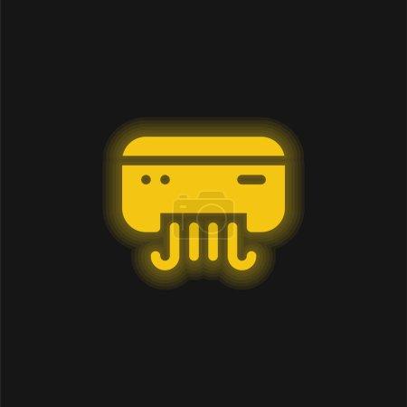 Klimaanlage gelb leuchtendes Neon-Symbol