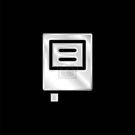 Illustration pour Livre argent plaqué icône métallique - image libre de droit