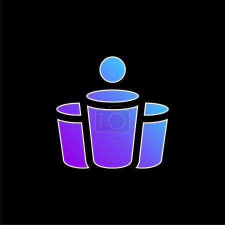 Illustration pour Bière Pong icône vectorielle dégradé bleu - image libre de droit