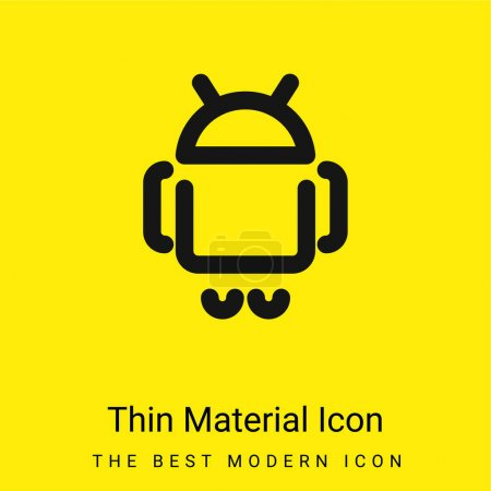 Android Logo minimal bright yellow material icon