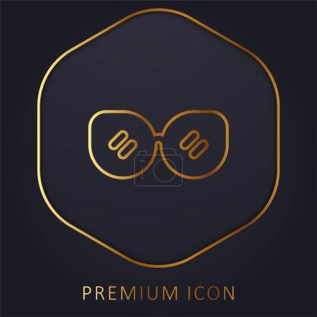 Illustration pour Accessoire ligne dorée logo premium ou icône - image libre de droit