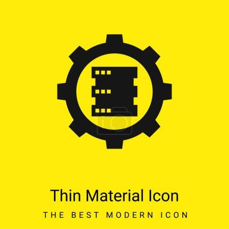 Illustration pour Icône matérielle jaune vif minimale Big Data - image libre de droit