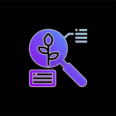 Illustration pour Analyse icône vectorielle de gradient bleu - image libre de droit