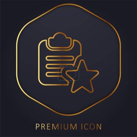 Photo pour Marque-page ligne d'or logo premium ou icône - image libre de droit
