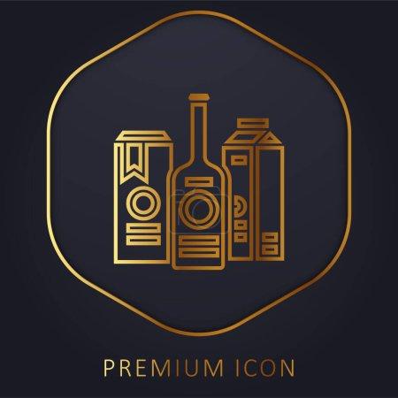 Illustration pour Marque ligne d'or logo premium ou icône - image libre de droit