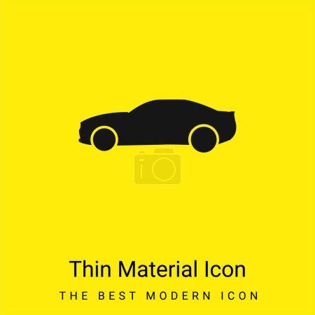 Illustration pour Black Big Car Side View icône matérielle jaune vif minimale - image libre de droit