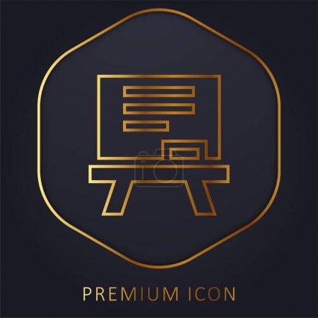 Illustration pour Blackboard ligne d'or logo premium ou icône - image libre de droit