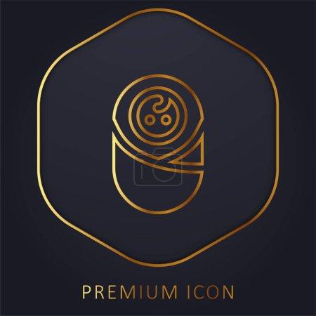 Bébé ligne d'or logo premium ou icône