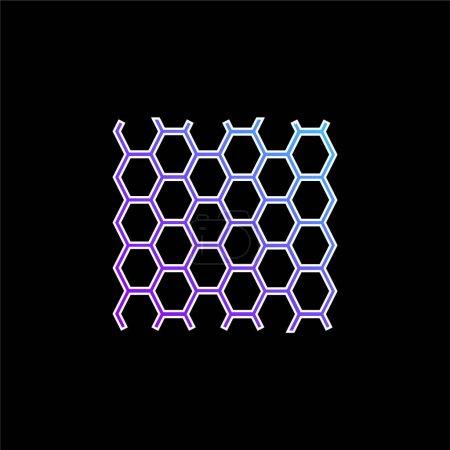 Photo pour Panneau d'abeilles Texture bleu dégradé icône vectorielle - image libre de droit