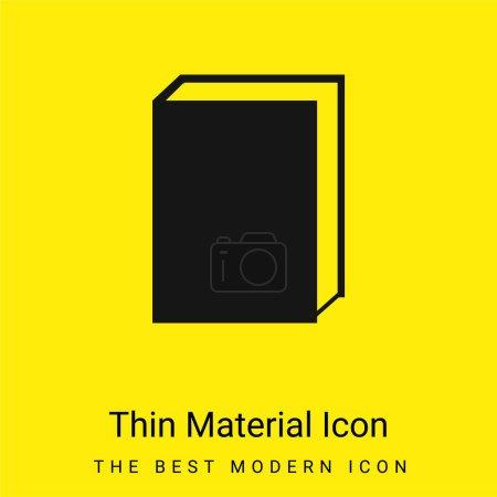 Photo pour Livre minime icône matériau jaune vif - image libre de droit