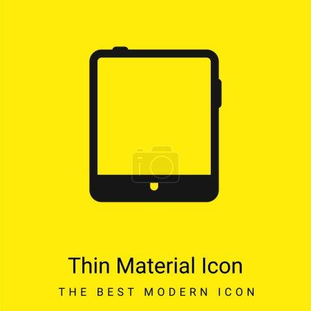 Foto de Tableta grande icono de material amarillo brillante mínimo - Imagen libre de derechos