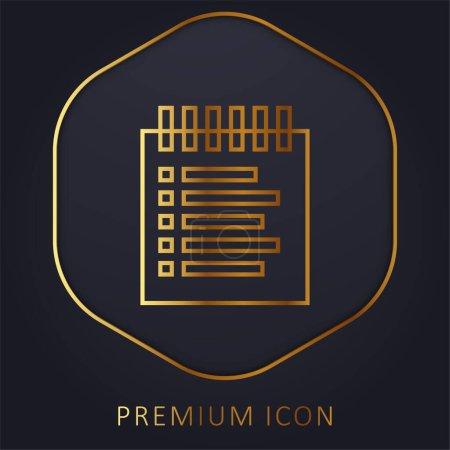 Illustration pour Liste de réservation ligne d'or logo premium ou icône - image libre de droit