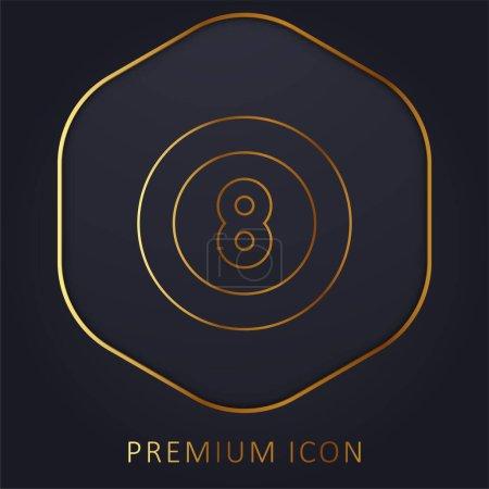 Illustration for Billiard golden line premium logo or icon - Royalty Free Image