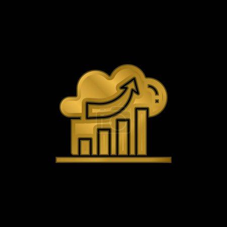 Illustration pour Analyse icône métallique plaqué or ou vecteur de logo - image libre de droit