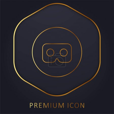 Photo for Ar Glasses golden line premium logo or icon - Royalty Free Image