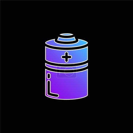 Photo pour Batteries icône vectorielle dégradé bleu - image libre de droit