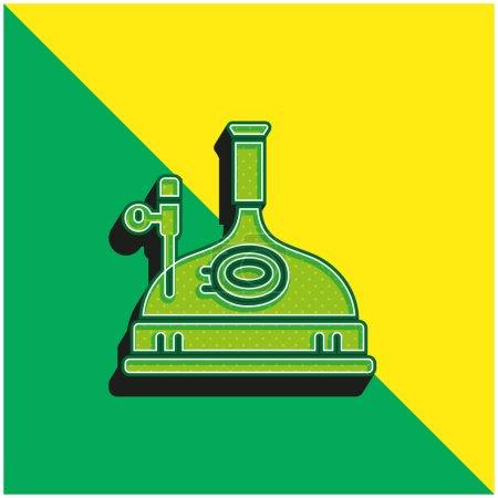 Illustration pour Brassage vert et jaune logo icône vectorielle 3d moderne - image libre de droit