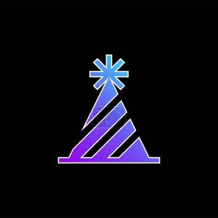 Urodziny niebieska ikona wektora gradientu