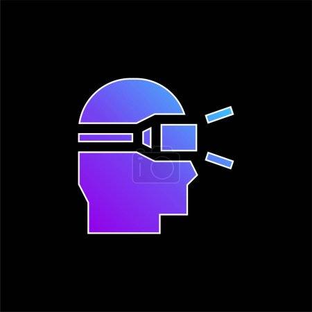 Illustration for Augmented Reality blue gradient vector icon - Royalty Free Image