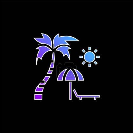 Foto de Playa azul gradiente vector icono - Imagen libre de derechos