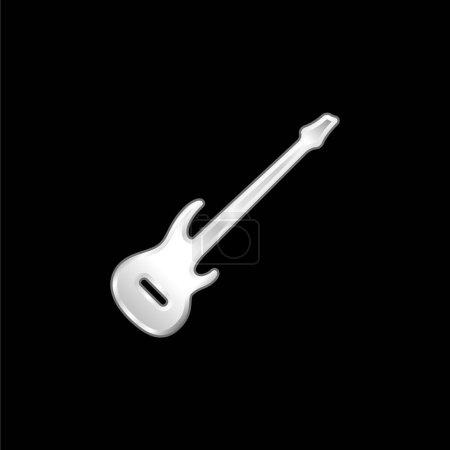 Bajo Guitarra plateado icono metálico