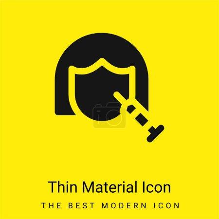Illustration pour Icône matérielle jaune vif minimale Botox - image libre de droit