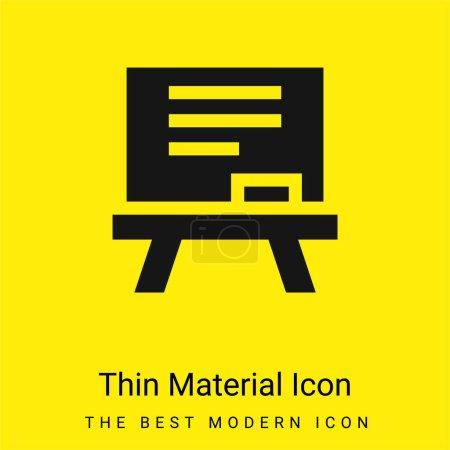 Illustration pour Tableau noir minimal jaune vif icône matérielle - image libre de droit