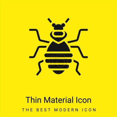 Photo pour Icône matérielle jaune vif minimale punaise de lit - image libre de droit