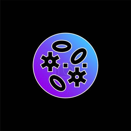 Photo pour Bactéries bleu dégradé vecteur icône - image libre de droit