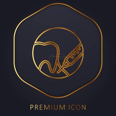 Illustration pour Anesthésie ligne d'or logo premium ou icône - image libre de droit