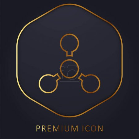 Photo for Biology golden line premium logo or icon - Royalty Free Image