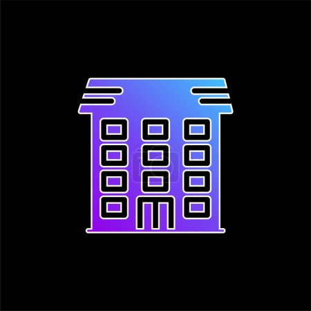 Illustration for Apartment blue gradient vector icon - Royalty Free Image
