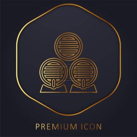 Illustration pour Baril ligne d'or logo premium ou icône - image libre de droit