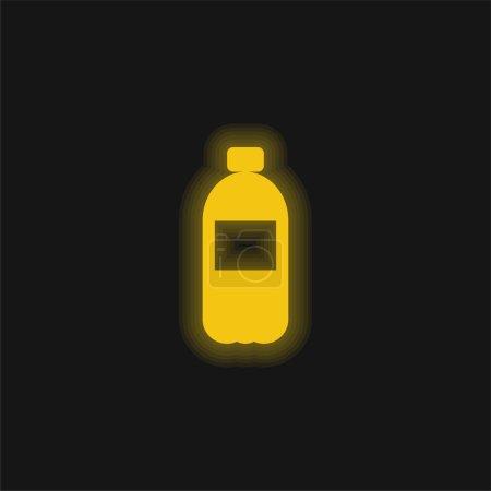 Illustration pour Boisson jaune brillant icône néon - image libre de droit