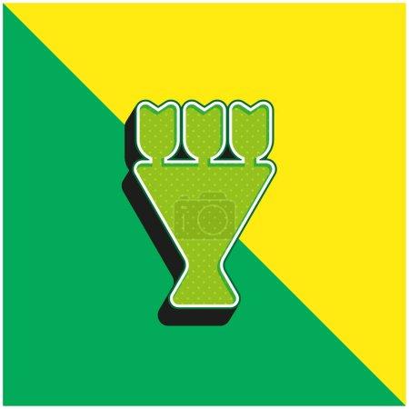 Photo pour Bouquet Logo vectoriel 3d moderne vert et jaune - image libre de droit