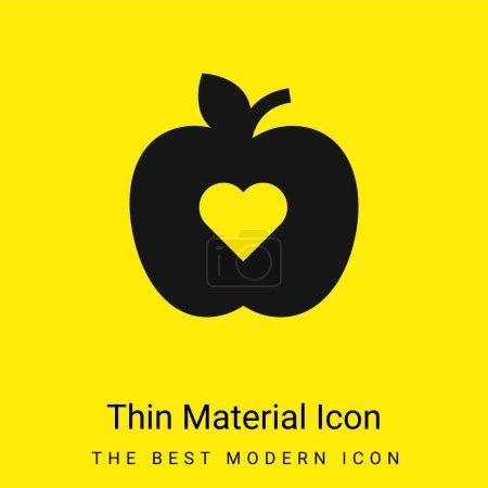 Photo pour Icône matérielle jaune vif minimale Apple - image libre de droit