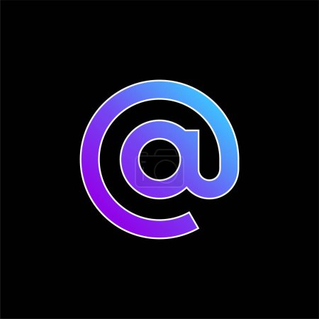 Illustration pour À l'icône vectorielle de dégradé bleu - image libre de droit