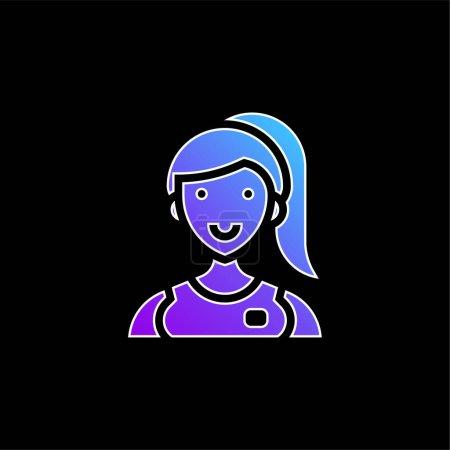 Foto de Asistente icono de vector de gradiente azul - Imagen libre de derechos